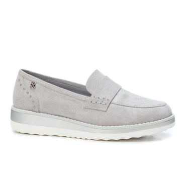 REFRESH WOMENS LOW WEDGE SLIP ON LOAFER - SILVER