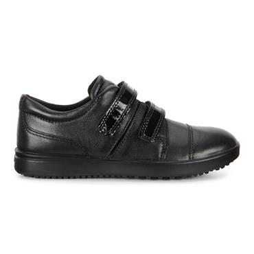 ECCO GIRLS 2 VELCRO STRAP SHOE - BLACK