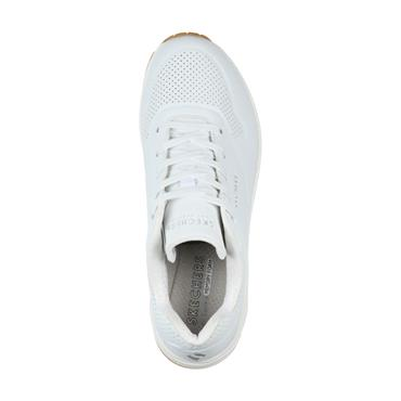 SKECHERS WOMENS L.A. LACE TRAINER - WHITE