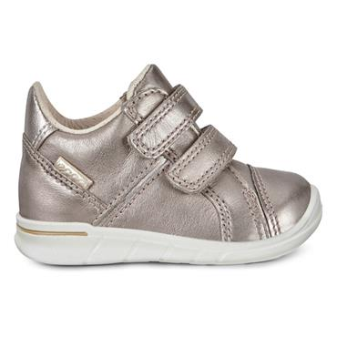 ECCO GIRLS 2 VELCRO STRAP ANKLE BOOT - PEWTER