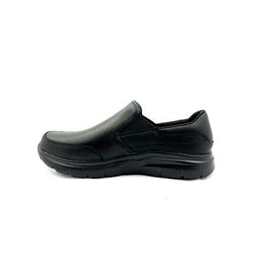 SKECHERS GTS SLIP RESISTANT SLIP ON SHOE - BLACK