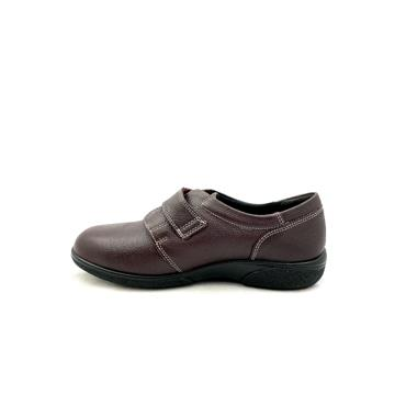 EASY B WOMENS 4E HEALEY VEL STRAP SHOE - WINE