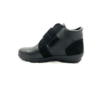 ALPINA WOMENS VELCRO STRAP ANKLE BOOT - BLACK
