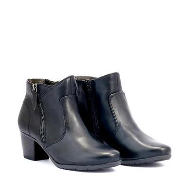JANA WOMENS 2 ZIP ANKLE BOOT - BLACK