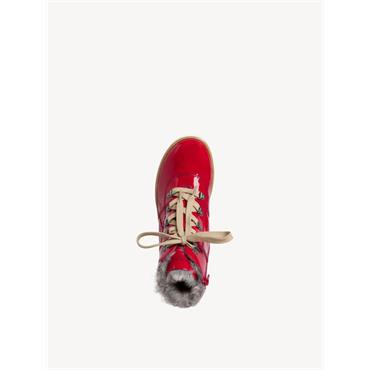 JANA WOMENS TEX 5 EYE LACE ANKLE BOOT - RED