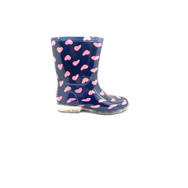 MEIVA GIRLS HEART WELLINGTON - NAVY PINK