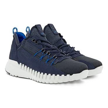 ECCO MENS FLEX LACE TRAINER - NAVY