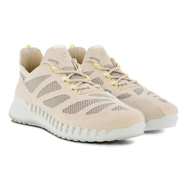 ECCO WOMENS FLEX LACE TRAINER - LIMESTONE