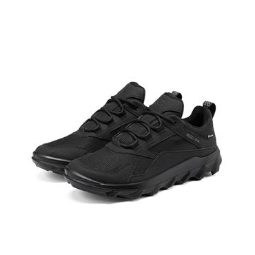 ECCO WOMENS GORETEX LACE TRAINER - BLACK
