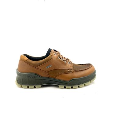 ECCO MENS GORETEX MOCCASSIN LACE SHOE - BISON