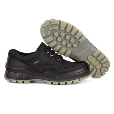 ECCO MENS GORETEX MOCCASSIN LACE SHOE - BLACK