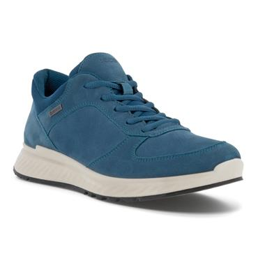 ECCO WOMENS GORETEX LACE TRAINER - SEAPORT