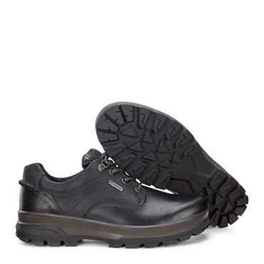 ECCO MENS GORETEX PLAIN TOE LACE SHOE - BLACK