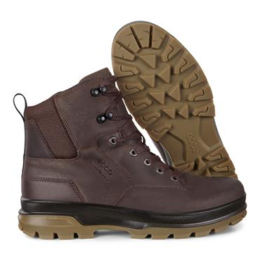 ECCO MENS HYDROMAX PLAIN TOE LACE BOOT - COFFEE