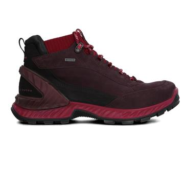 ECCO WOMENS GORETEX LACE OUTDOOR BOOT - PURPLE