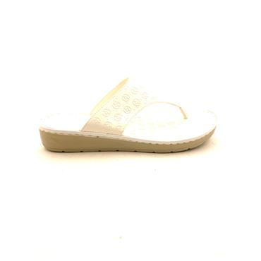 NINE TO FIVE WOMEN LOW WDG TOE POST MULE - WHITE