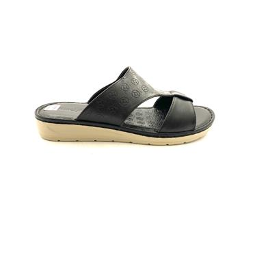 NINE TO FIVE LDS LOW WEDGE TSTRAP MULE - BLACK