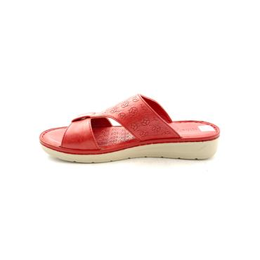 NINE TO FIVE LDS LOW WEDGE TSTRAP MULE - RED