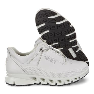 ECCO WOMENS GORETEX LACE TRAINER - WHITE LEATHER