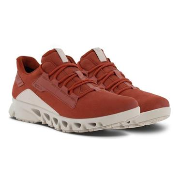 ECCO WOMENS GORETEX LACE TRAINER - CAYENNE