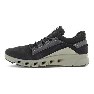 ECCO MENS GORETEX LACE TRAINER - BLACK