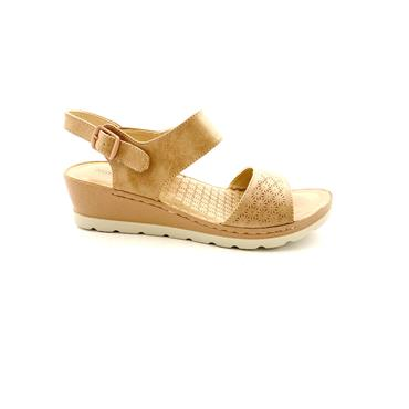 NINE TO FIVE LDS WEDGE STRAP SANDAL - PINK