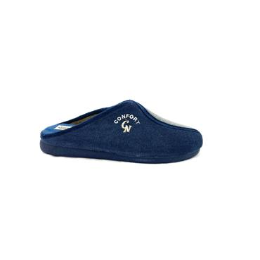 NATALIA MENS SLIP ON SLIPPER - NAVY GREY
