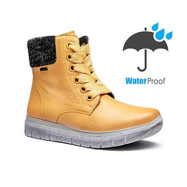 G COMFORT WOMENS WATERPROOF ANKLE BOOT - YELLOW LEATHER