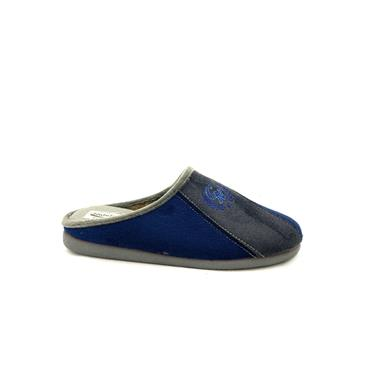 NATALIA GTS SLIP ON SLIPPER - NAVY GREY