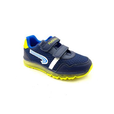 PABLOSKY BOYS 2 VEL STRAP RUNNER - NAVY LIME