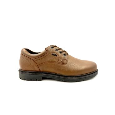 GRUNWALD MENS WATERPROOF LACE SHOE - BROWN