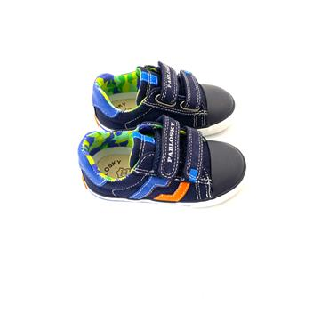 PABLOSKY BOYS VELCRO STRAP CANVAS SHOE - NAVY
