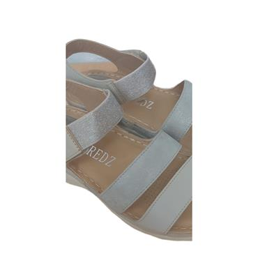 REDZ LDS WEDGE 3 VEL STRAP SANDAL - OFF WHITE