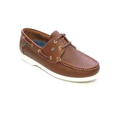 DUBARRY DECK SHOE - BROWN LEATHER