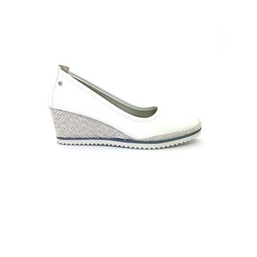 ZANNI WOMENS WEDGE SLIP ON SHOE - WHITE
