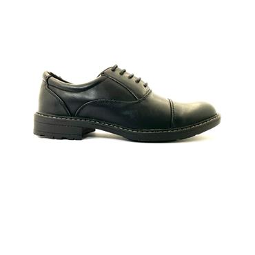 BYRON MENS DRESS TOE CAP LACE SHOE - BLACK