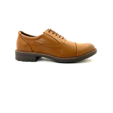 BYRON MENS DRESS TOE CAP LACE SHOE - TAN