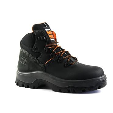 NO RISK  MENS LACE SAFETY BOOT - BLACK
