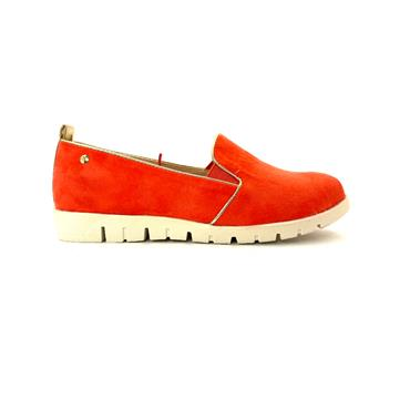 ZANNI WOMENS GUSSET SLIP ON SHOE - CORAL