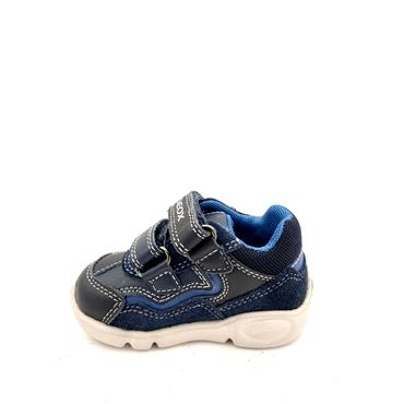 GEOX BOYS 2 VEL STRAP RUNNER - NAVY BLUE