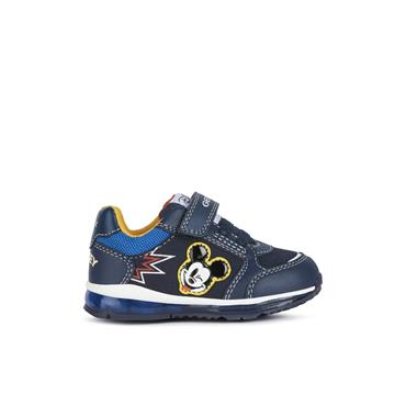 GEOX BOYS DISNEY VEL LACE RUNNER - NAVY
