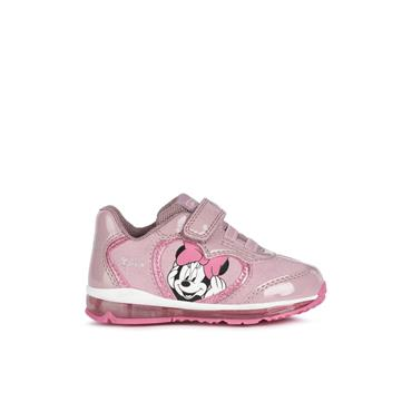 GEOX GIRLS DISNEY VEL LACE RUNNER - ROSE