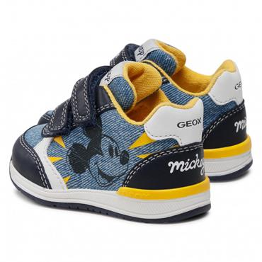 GEOX BOYS DISNEY VELCRO STRAP TRAINER - DENIM NAVY