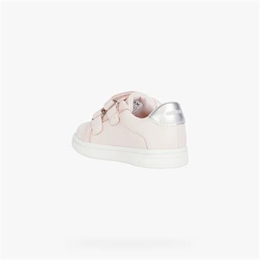 GEOX GIRLS VELCRO STRAP TRAINER - ROSE
