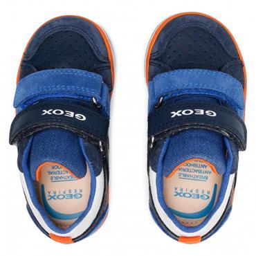 GEOX BOYS 2 VELCRO STRAP TRAINER - NAVY BLUE
