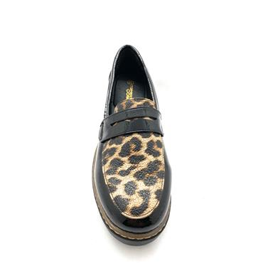 SPROX LOW WEDGE MOCCASSIN LOAFER - BLACK PATENT