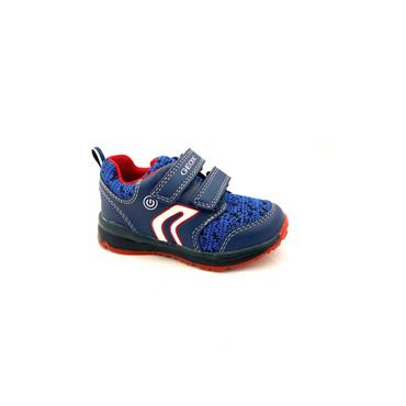 GEOX BOYS 2 VEL STRAP LIGHTS RUNNER - NAVY RED