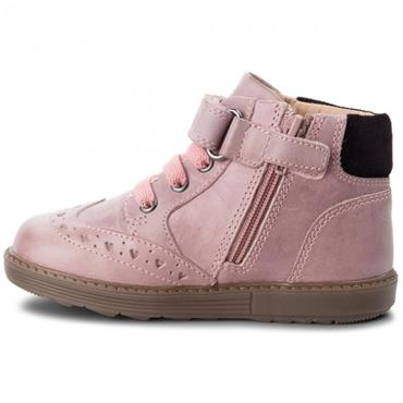 GEOX GIRLS VELCRO LACE ANKLE BOOT - PINK