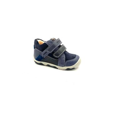 GEOX BOYS 2 VEL STRAP ANKLE BOOT - NAVY