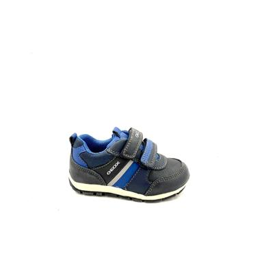 GEOX BOYS 2 VEL STRAP SHOE - NAVY